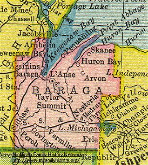 Baraga County Maps and Land Owners