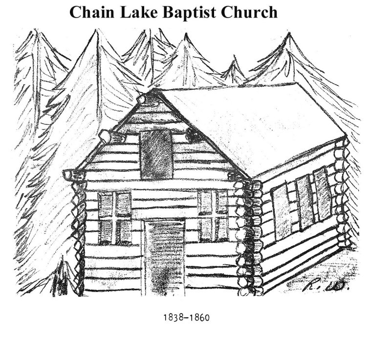 Original Chain Lake Cabin church