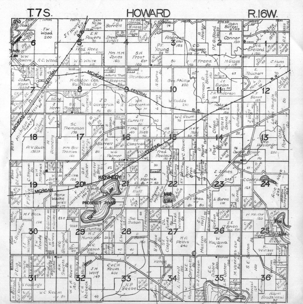 Howard township map