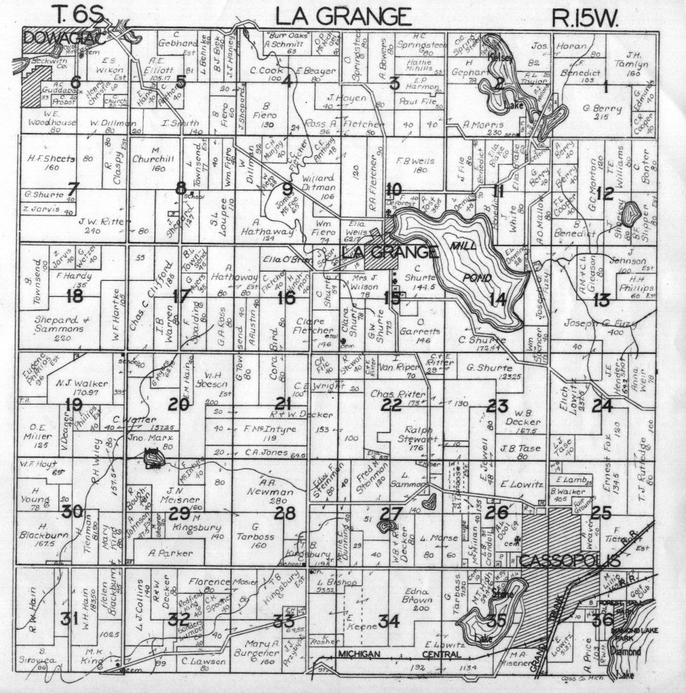 Michigan Township Maps Images