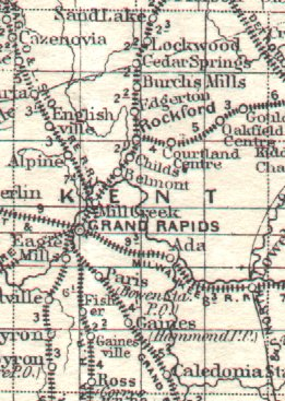 Atlas Of Kent County Michigan City And County Area Maps
