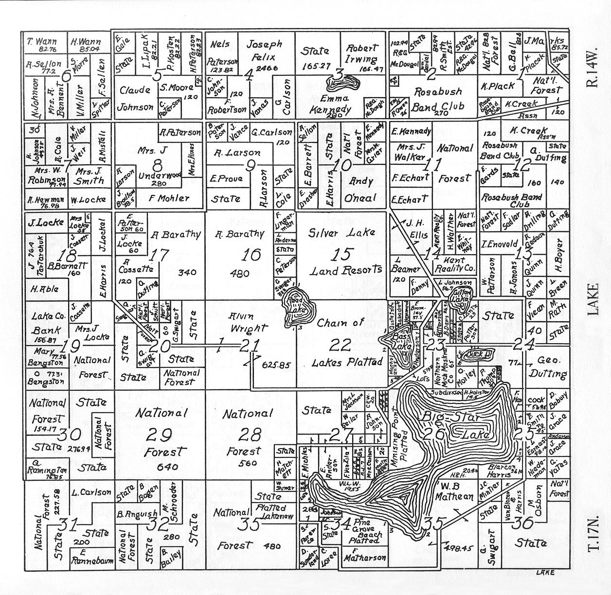 Michigan Plat Maps Lake Co., Michigan Farm Plat Book